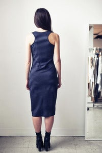 Image of Striped Racerback Tank Dress