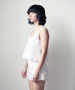 Image of Floral Eyelet Tank w/ Scalloped Hem