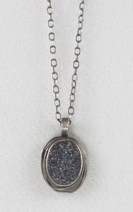 Image of Black Knight Drusy Small Nest Necklace