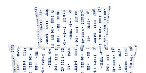 Image of Quilt Set in Dot Blue by RosenbergCph
