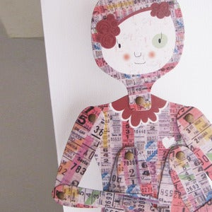 Image of Porteña, articulated paper doll