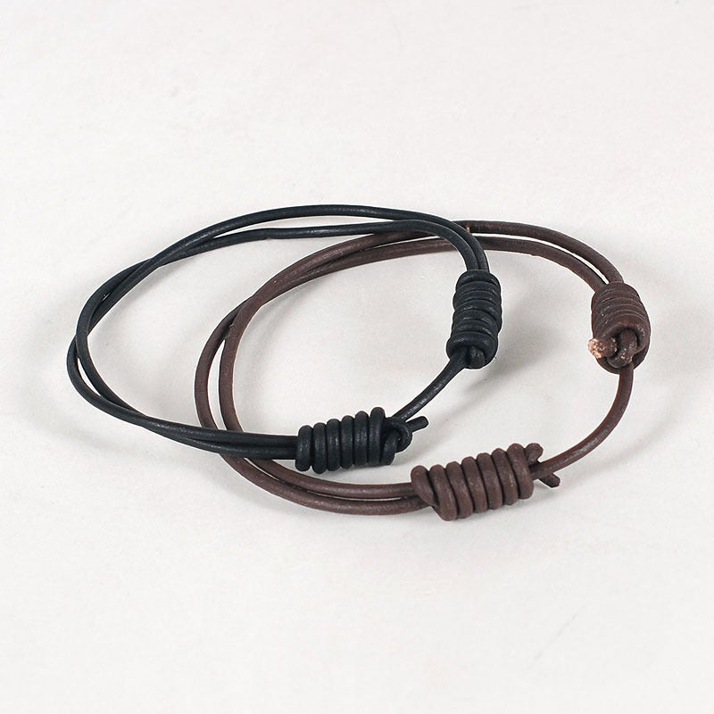 Leather Bracelets http://www.ashdownworkshop.co.uk/product/round-leather-bracelet-twin-pack