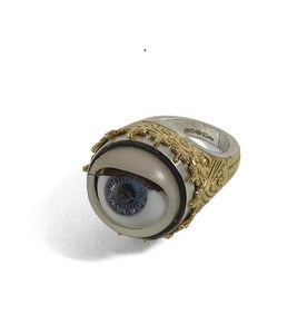 Image of Peeping Tom: Blinking Vintage Dolly Eye Ring