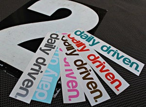 Image of daily driven Sticker