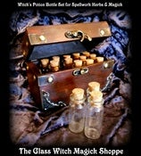 Image of 15 Witch's Potion Bottle Box Set for Spells, Herbs & Magick (HH)