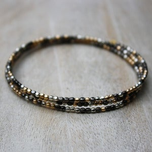 Image of Mixed Metal Triple Bangle