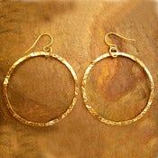 Image of 14K Gold Filled Hoop Earrings