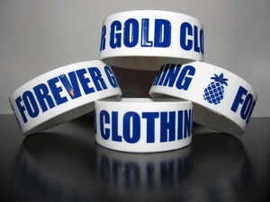 Image of Forever Gold Clothing Bracelet White/Blue