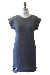 Image of Hugo Dress in Grey French Terry