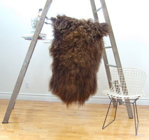 Image of Large Brown 'Rustic' Icelandic Sheepskin BR-000