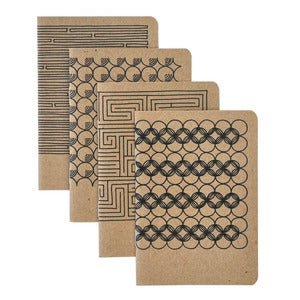 Image of 4 Pocket Notebooks, Geometric No.2