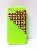 Image of Neon Green Studded Iphone 4 | 4s Case