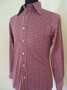 Image of 70s star print acetate shirt