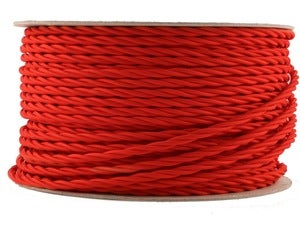 Image of BRIGHT RED | fabric lighting flex cable | TWIST
