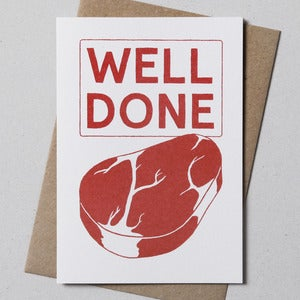 Image of Well Done Greetings Card
