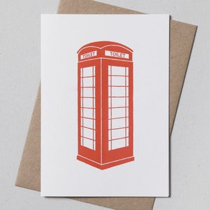 Image of Telephone Box Greetings Card