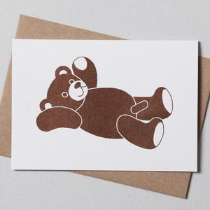 Image of Teddy Bear Greetings Card