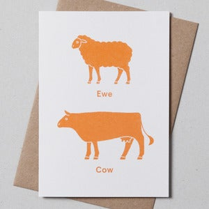 Image of Ewe Cow Greetings Cards