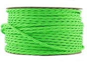 Image of NEON GREEN | fabric lighting flex cable | TWIST