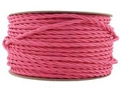 Image of FUSCHIA PINK | fabric lighting flex cable | TWIST