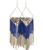 Image of Chandelier Earrings (Navy Blue/Silver, Forest Green/Gold)