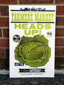 "Image of Farmer's Market ""Heads Up!"" Poster"