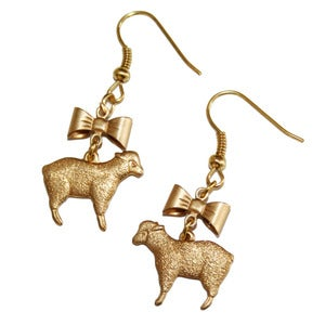 Image of Little Bow Sheep Earrings