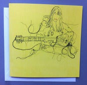 Image of 'Cat guitar' Greetings card