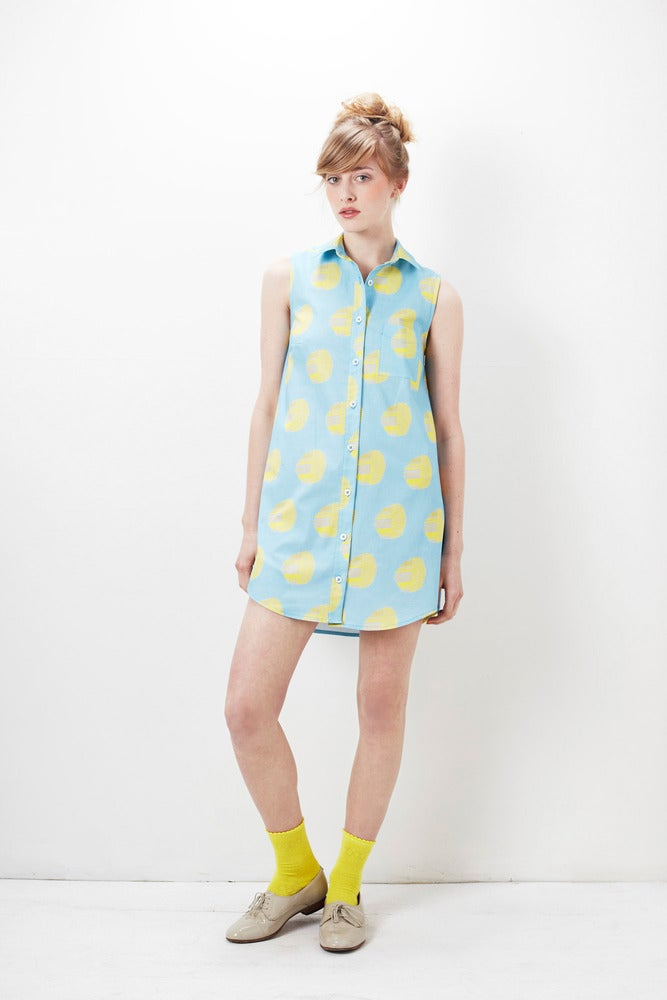 Image of Alder Shirtdress : Citron