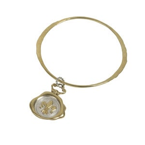 Image of Fleur-de-Lis Wax Seal Bangle