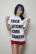 Image of White 'Fuck Bitches Cure Cancer' Shirt (unisex)
