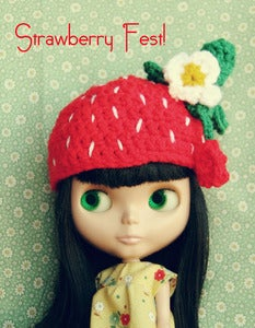 Image of Strawberry Blythe Crocheted Hat