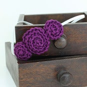 Image of Three Rosette headband in Dark Red Violet