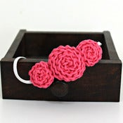 Image of Three Rosette headband in Hot Pink