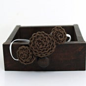 Image of Three Rosette headband in Chocolate