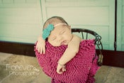 Image of Three Rosette headband in Bright Teal