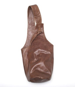 Image of TRAVELLER - Leather Bucket Bag 