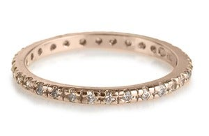Image of Kara Ackerman <i> Talulah  <i/> Eternity Stacking Ring in Rose