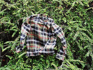 Image of green flannel sweater