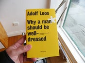 Image of Adolf Loos: Why a man should be well-dressed