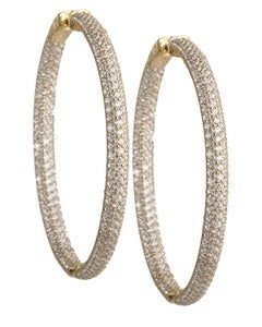 Image of Kara Ackerman <i>Talulah <i/> Large Micro Pave Set Hoops in Yellow