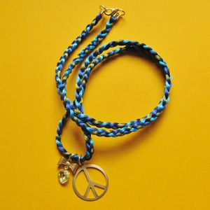 Image of Peace & Love Swarovski Crystal Long Friendship Necklace 20% OFF!