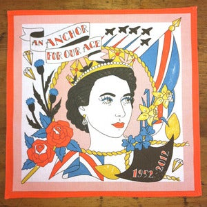 Image of 'Diamond Jubilee' pocket square / handkerchief