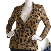 Image of Animal print blazer