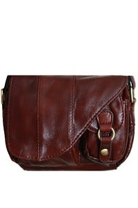 Image of 'Let's Saddle That' Brown Leather Mini Shoulder Bag (BACK IN STOCK!)
