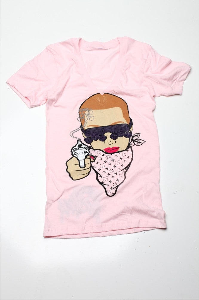 Image of Amber Rose 14k Ladies Light Pink Tee