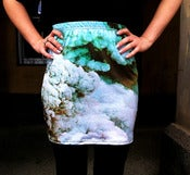 Image of GREEN SMOKE SKIRT