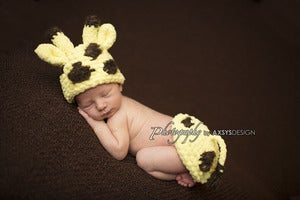 Image of Newborn Giraffe Hat & Tushy Topper pdf #87