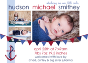 Image of Little Sailor Birth Announcements