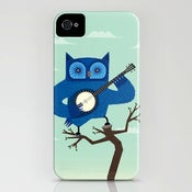 Image of The Banjowl - Owl iPhone Case - (3GS, 3G, 4S, 4)